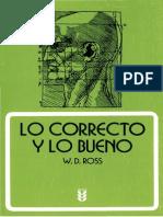 628 - Lo Correcto y Lo Bueno W.D. ROSS