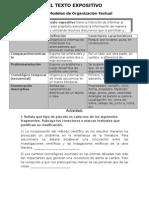 Modelos de Organizacion Textual Nm1 Texto Expositivo