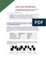 Sedimentary Rock Identification