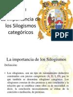 11 Los Silogismos Categóricos