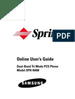 Samsung n400 for Sprint