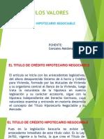 Titulos Valores Credito Hipotecario Negociable