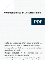 Defects in Documentation