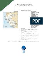 En 2010 le partenaire du CCFD sera le Pérou. Quelques chiffres