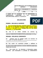 Contrato Comision Mercantil