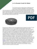 Aprender En Cuanto A La Roomba Creado Por IRobot