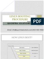 Linux Booting Procedure Presented by Quontra Solutions
