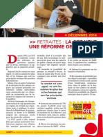 DÉFENDRE ET AMÉLIORER LE RÉGIME DE RETRAITE DES FONCTIONNAIRES DE L'ÉTAT