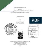 Simulasi Debit Aktual Das Kr Peusangan