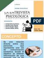 La Entrevista Psicológica.exposicion Grupal.t Noche.19.09.2014