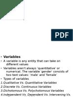 • Variables