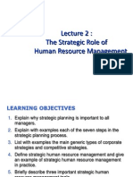 Lecture 2-The Strategic Role of HRM