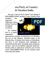 Halloween Party at Country Club Vacation India
