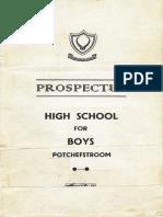 1952 Prospectus - High School for Boys, Potchefstroom, SA
