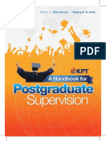 A Handbook for Postgraduate Supervision