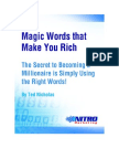 Magic words that make you rich