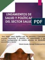 Lineamientos de Salud y Políticas Del Sector Salud