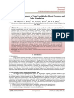 Design and Development of Arm Manikin for Blood Pressure and  Pulse Simulation