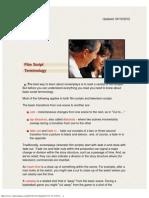 Film Script Terminology