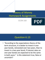 Theory of Money - Homework Assignment #1