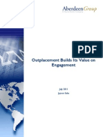 Outplacement Builds its Value on Engagement, Aberdeen Group