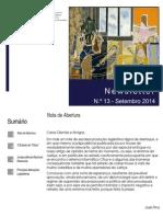 Newsletter CAMMP n.º 13 de Setembro de 2014