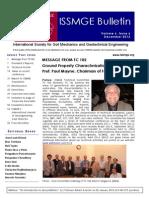 ISSMGE Bulletin Volume 6 Issue 6 December 2012