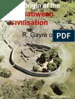 Gayre-The Origin of the Zimbabwean Civilisation