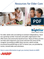 Community Resources for Elder Care