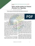 A Food Prescription and Recognition for Patients using Decision Tree Algorithm
