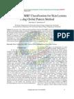 Model-Based MRF Classification for Skin Lesions Using Global Pattern Method