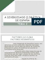 A Diversidade Climatica en España