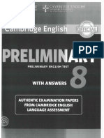 PRELIMINARY TEST PET 8