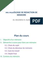 Methodologie de Redaction de Memoire