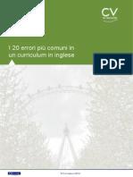 I 20 Errori Piu Comuni in Un Curriculum in Inglese1