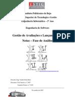 Jaejaneiro[Engenharia de software] - Gestão de Avaliações e Lançamento de Notas (Fase de Análise)