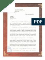 1 Carta Papa Francisco pagina 1 Octubre (2)