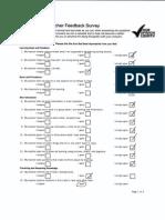 student feedback survey - valdocco