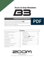 Zoom B3 Manual