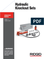 Manual Hydraulic Knockout Set