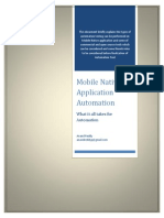 Mobile Native Application Automation Testing