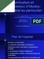 Curriculum Et Programes