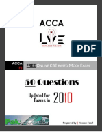 www.acca-live.com | ACCA - F2 Management Accounting CBE based Mock Exam