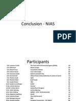 NIAS Conclusions