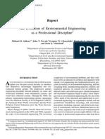 Historia de La Ingenieria Ambiental
