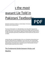 the Most Blatant Lie Told in Pakistani Textbooks