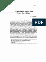 Economia Da Teoria Das Ideias - Cherniss