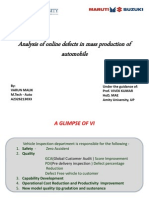 Analysis of online defects in mass production of automobile