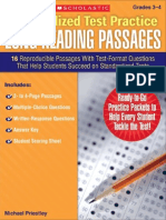 Standardized Test Practice Long Reading Passages G3-4