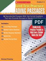 Standardized Test Practice Long Reading Passages G3-4